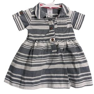 Carter's striped collared blue and white dress